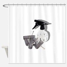 HairRollersWaterSprayer060910shadow Shower Curtain