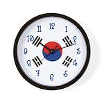 Korea Flag Wall Clock