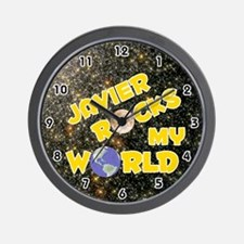 Javier Rocks My World (Gold) Wall Clock