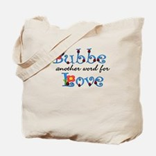 Bubbe Another Word LOVE Tote Bag