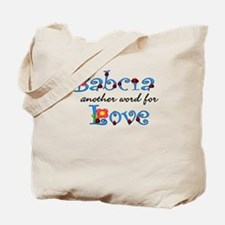 Babcia Another Word LOVE Tote Bag