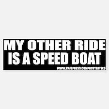 My Other Ride Is A Speed Boat Bumper Bumper Bumper Sticker