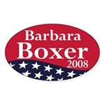 Barbara Boxer 2008 (oval bumper sticker)