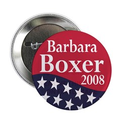 Barbara Boxer for President 2008 (Button)