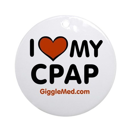 CPAP Love Ornament (Round)