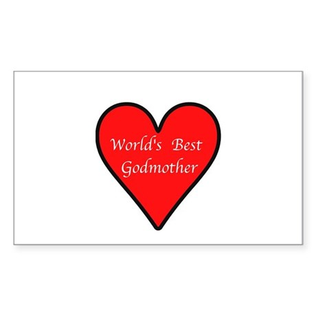 World's Best Godmother Sticker (Rectangle)
