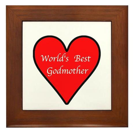 World's Best Godmother Framed Tile