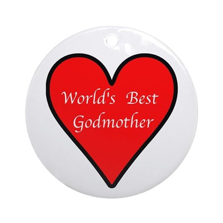 World's Best Godmother Ornament (Round)