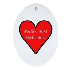 World's Best Godmother Ornament (Oval)