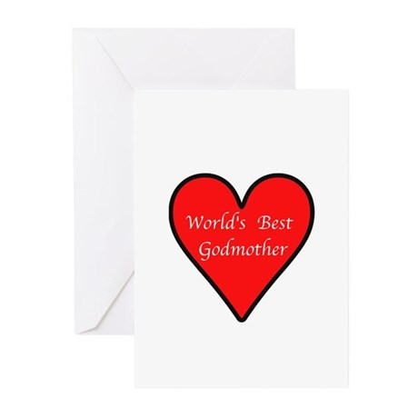 World's Best Godmother Greeting Cards (Pk of 10)