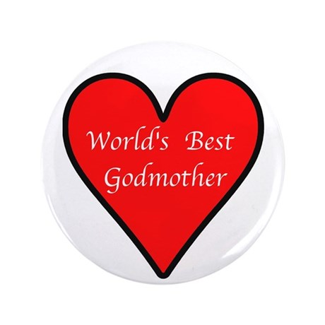 """World's Best Godmother 3.5"""" Button (100 pack)"""