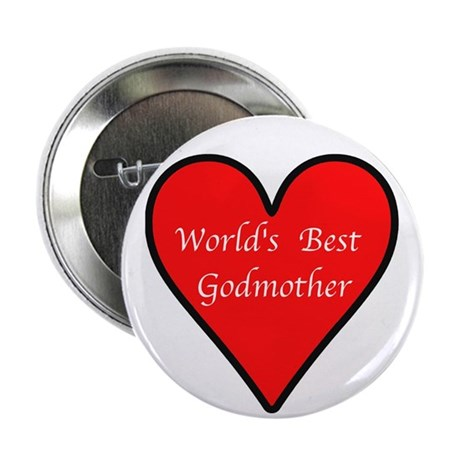 """World's Best Godmother 2.25"""" Button (10 pack)"""