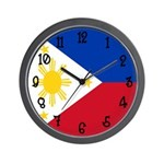 Phillipines Flag Wall Clock