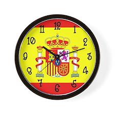 Spain Flag Wall Clock