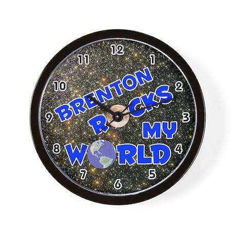Brenton Rocks My World (Blue) Wall Clock