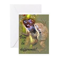 Mating Upland Chorus Frogs Greeting Card
