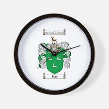 Ray Family Crest Wall Clock