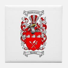 Rankin Family Crest Tile Coaster