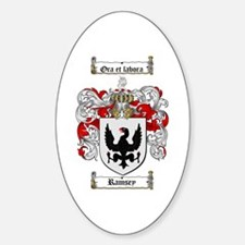 Ramsey Family Crest Oval Decal