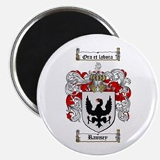 "Ramsey Family Crest 2.25"" Magnet (10 pack)"