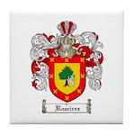 Ramirez Family Crest Tile Coaster