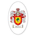 Ramirez Family Crest Oval Sticker