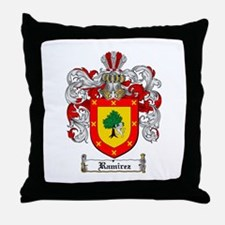 Ramirez Family Crest Throw Pillow