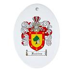 Ramirez Family Crest Oval Ornament