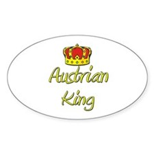 Austrian King Oval Decal