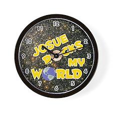 Josue Rocks My World (Gold) Wall Clock