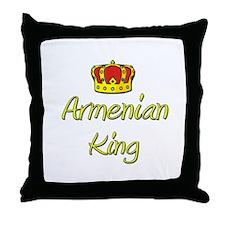Armenian King Throw Pillow