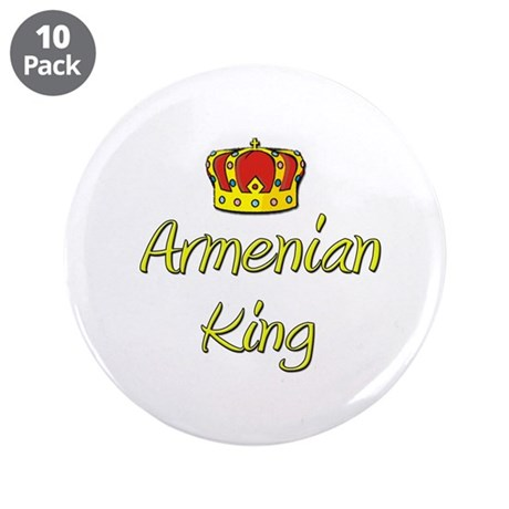 "Armenian King 3.5"" Button (10 pack)"