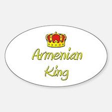 Armenian King Oval Decal