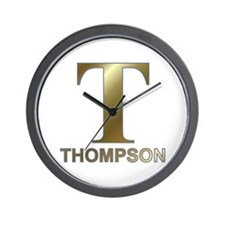Gold T for Fred Thompson Wall Clock