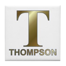Gold T for Fred Thompson Tile Coaster