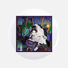 """Cat Scorpio 3.5"""" Button"""