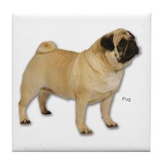 Pug Dog for Pugs Lovers Tile Coaster
