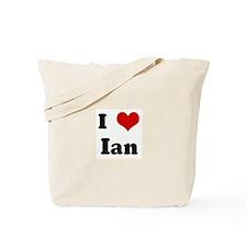 I Love Ian Tote Bag