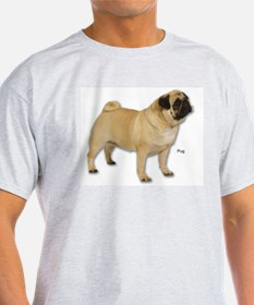 Pug Dog for Pug Lovers (Front) Ash Grey T-Shirt