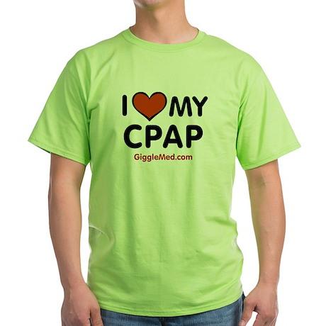 CPAP Love Green T-Shirt