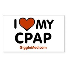 CPAP Love Rectangle Decal
