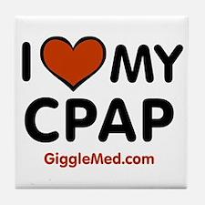 CPAP Love Tile Coaster