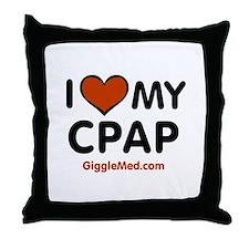 CPAP Love Throw Pillow
