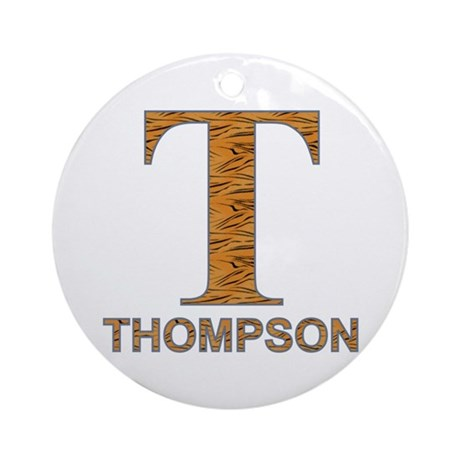 Tiger Striped T for Fred Thompson Ornament (Round)