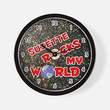 Suzette Rocks My World (Red) Wall Clock