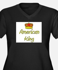 American King Women's Plus Size V-Neck Dark T-Shir
