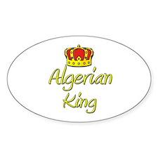 Algerian King Oval Decal