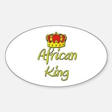 African King Oval Decal