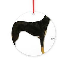 Saluki Dog Keepsake (Round)