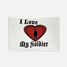 Love My Soldier Rectangle Magnet